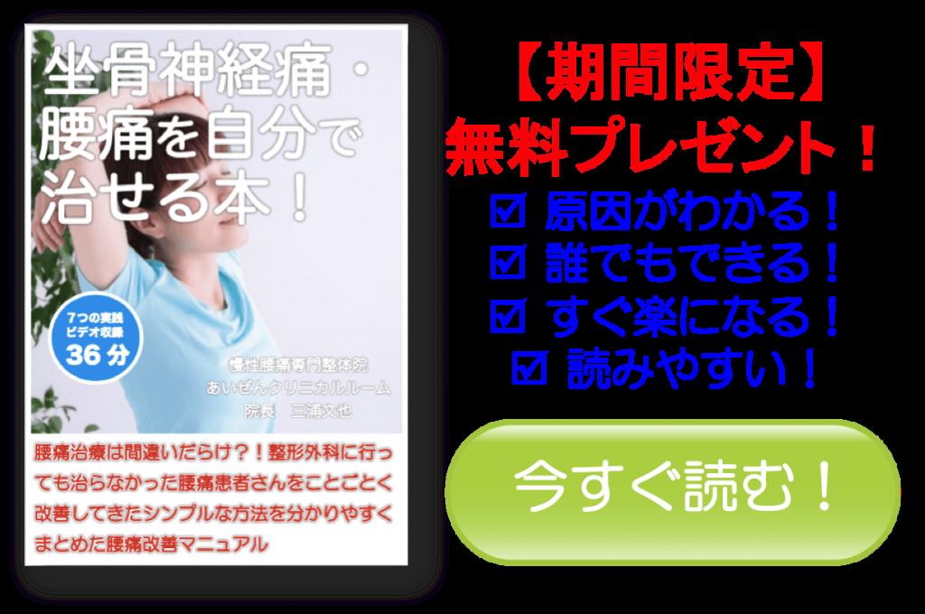坐骨神経痛・腰痛を自分で治せる書籍 お求めページへ