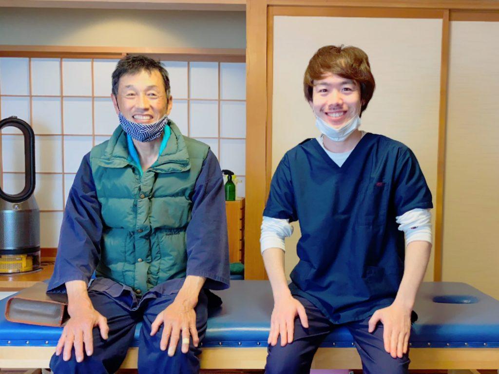 上田市からお越しの古谷様と対談 仙骨の痛みと右足全体の痛みがほぼなくなりました!